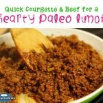 Quick Courgette & Beef for a Hearty Paleo Lunch recipe
