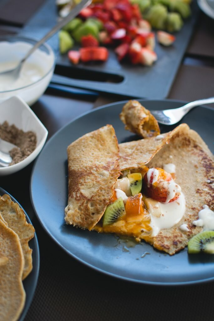 Welcome to my Paleo fruity breakfast pancake.
